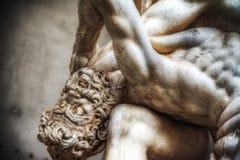 Zamyka up Hercules i Nesso centaur statua Zdjęcia Stock