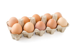 Zamyka up jajko na białym tle Obrazy Royalty Free