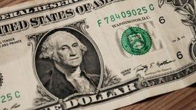 Zamyka up jeden dolarowy rachunek obraz stock