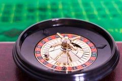Zamyka up kasynowa ruleta zdjęcia royalty free