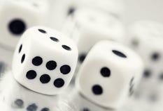 Zamyka up kasynowych kostka do gry Fotografia Stock