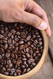 Zamyka up kawowe fasole obrazy royalty free