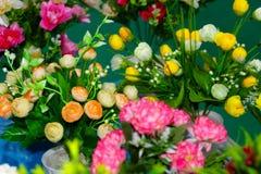 Zamyka up kolorowi dekoracyjni kwiaty Obraz Stock