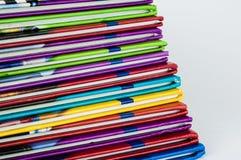 Zamyka up kolorowi dziecko encyklopedii foredges Obraz Stock