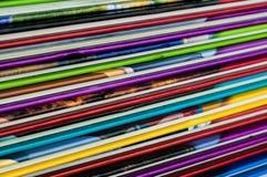 Zamyka up kolorowi dziecko encyklopedii foredges fotografia stock