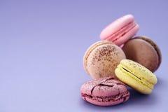 Zamyka up kolorowi macarons Fotografia Royalty Free
