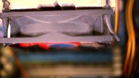 Zamyka up komputerowa główna deska Makro- wideo przesunięcie zbiory wideo