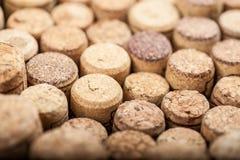 Zamyka up korkowy wino Fotografia Royalty Free