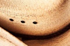 Kowbojskiego kapeluszu zamknięty up Fotografia Stock