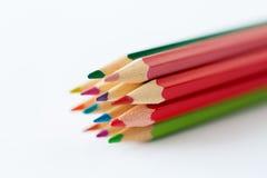 Zamyka up kredki lub barwi ołówki Zdjęcia Stock