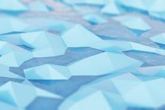 Zamyka up lodowi kawały w wodzie ilustracji