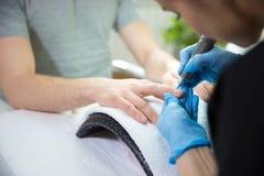 Zamyka up mężczyzna ` s manicure Zdjęcia Stock
