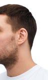 Zamyka up męski ucho obraz stock