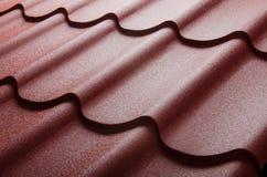 Zamyka up metal dachowa płytka zdjęcie royalty free