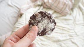 Zamyka up miękcy czekoladowi lodowaceń ciastka Obrazy Royalty Free