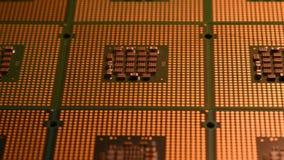 Zamyka up na chip komputerowy jednostce centralnej z suwakiem 4K UHD wideo zdjęcie wideo