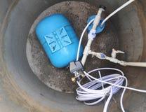 Zamyka up na dostawa wody systemu Wodny odwiert, hydrauliczny accumulator, pompa wodna i inny wyposażenie, Zdjęcia Royalty Free