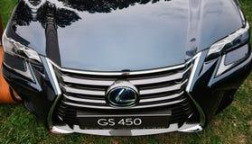 Zamyka up na Lexus GS 450 frontowy Polska, Wrocławski zdjęcie stock