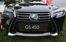 Zamyka up na Lexus GS 450 frontowy Polska, Wrocławski obraz royalty free