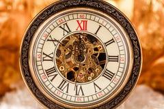 Zamyka up na rocznika zegarze Obrazy Stock
