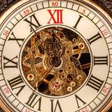 Zamyka up na rocznika zegarze Obraz Royalty Free