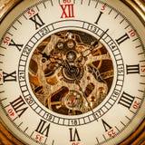 Zamyka up na rocznika zegarze Zdjęcie Stock
