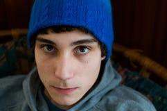Zamyka up nastoletnia chłopiec Zdjęcie Stock