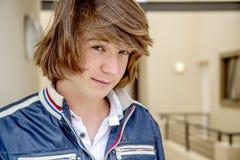 Zamyka up nastoletnia chłopiec Zdjęcie Royalty Free