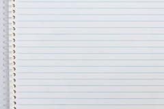 Zamyka up notatnika papier Zdjęcie Royalty Free