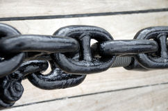 Zamyka up ośniedziały kotwicowy łańcuch. Zdjęcie Royalty Free