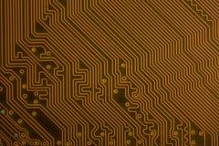 Zamyka up obwodu komputeru płyta główna tła binary koduje informatykę fotografia stock