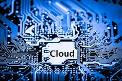 Zamyka up obwody Elektroniczni na Mainboard technologii tła logiki komputerowej desce, jednostki centralnej motherboardCloud zdjęcie stock