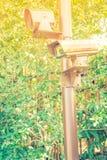 Zamyka up ochrony inwigilaci kamera (Filtrujący wizerunku proc obraz royalty free