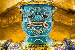 Zamyka Up opiekunu demon przy Uroczystym pałac w Bangkok, Tajlandia Fotografia Stock
