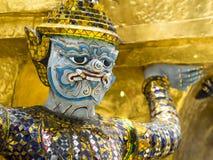 Zamyka Up opiekunu demon przy Uroczystym pałac w Bangkok, Tajlandia Obraz Royalty Free