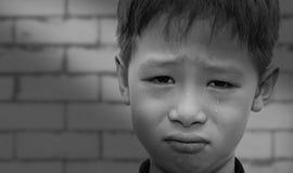 Zamyka up płacz chłopiec Obrazy Stock