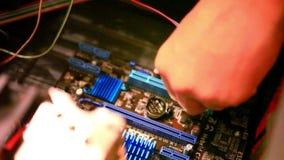 Zamyka up płyta główna diagnostyk HD 1920x1080 zbiory wideo