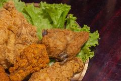 Zamyka up pieczeni kurczaki zdjęcie stock