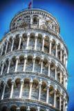 Zamyka up Pisa oparty wierza w hdr Obraz Stock