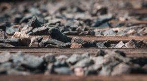 Zamyka up pociągu ślad fotografia stock