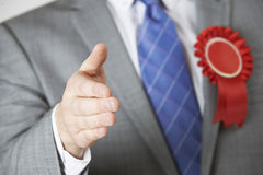 Zamyka Up polityk Dosięga Out Trząść ręki zdjęcia stock