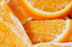 Soczyści pomarańcze plasterki Zdjęcia Stock