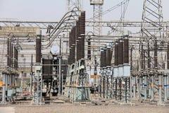 Zamyka up Przełącznikowy jard termiczna elektrownia Fotografia Stock