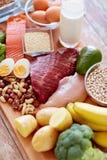 Zamyka up różni produkty spożywczy na stole obrazy royalty free