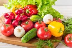 Zamyka up różnorodni kolorowi surowi warzywa Zdjęcie Stock