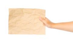 Zamyka up ręki mienia pustego miejsca notatka Obrazy Stock