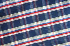 Zamyka up rocznik męska koszula, W kratkę wzór Fotografia Royalty Free