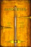 Zamyka up rocznika barometr Obrazy Stock