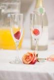 Zamyka up romantyczny śniadanie Obraz Stock