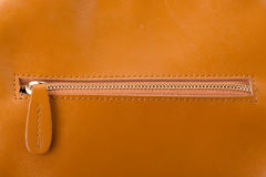 Zamyka up rzemiennej torby suwaczek Obraz Royalty Free